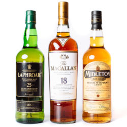 High-end Scotch and Irish Whiskies